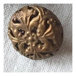 Bouton ancien métallique