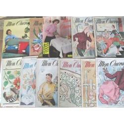 11 Revues anciennes Mon Ouvrage 1955