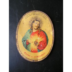 Plaque métal Christ Oeuvre des campagnes