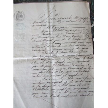 Acte notarié de 1866