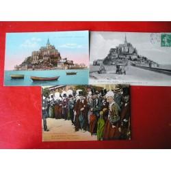 Lot de  43 cartes postales anciennes Normandie
