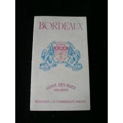 Ancien plan des rues de Bordeaux ( 1972)