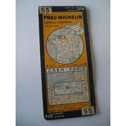 Cartes Michelin orange anciennes, années 30...50