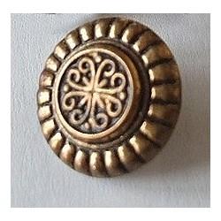 Bouton ancien métallique, 1.5cm