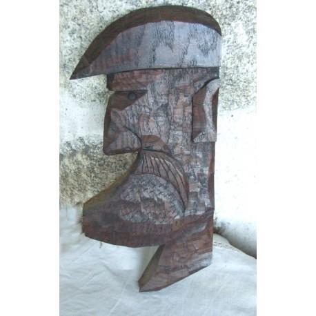 Tableau bois REIX - hauteur 33 cm