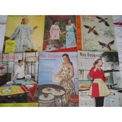 6 revues Mon Ouvrage de 1956