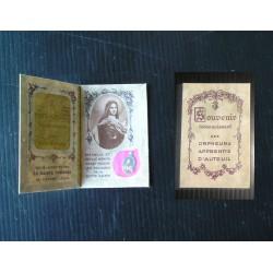 Carnet Orphelins d'Auteuil, médaille religieuse