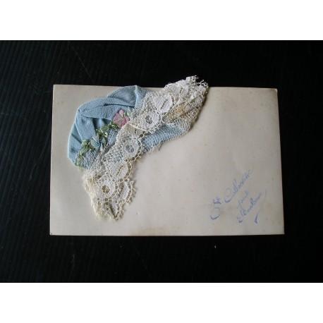 Carte Ste Catherine, chapeau en tissu