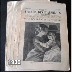 33 anciennes revues Veillées des Chaumières, 1930