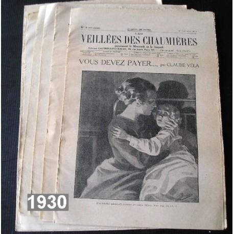33 anciens journaux Veillées des Chaumières, 1930