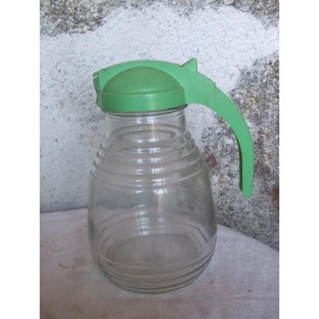Pot à eau en verre, années 60, vintage