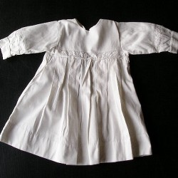 Robe ancienne blanche fillette 1950, 4 ans