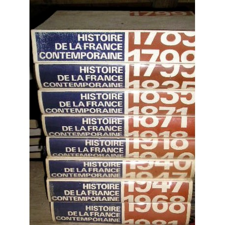 "Livres de collection "" Histoire de la France contemporaine"" , 8 gros volumes"