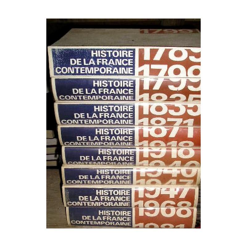 Livres De Collection Histoire De La France Contemporaine 8 Gros Volumes Broc23