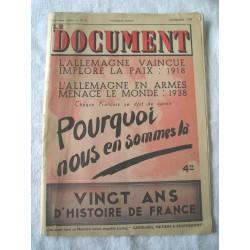 Revue militaire Le Document 1938, histoire, guerre