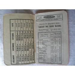 Carnet médical 1928