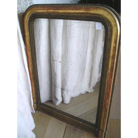 Miroir Louis Philippe,bois et plâtre