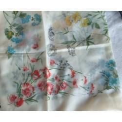 Foulard ancien, fleuri, vintage