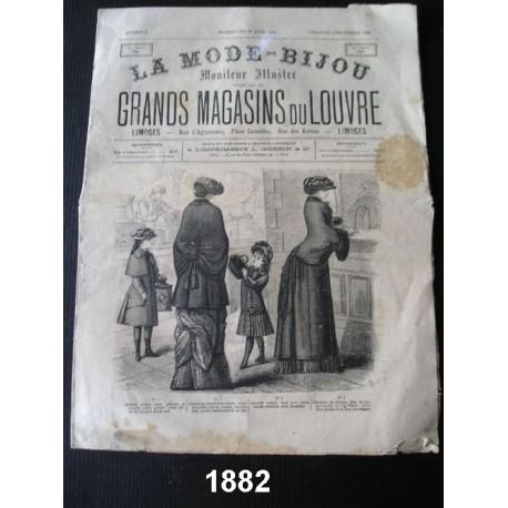 "Revue ancienne ""La Mode bijou"" de 1882"