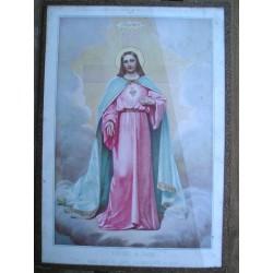 Sous verre religeux, Christ  35 x 24.5 cm