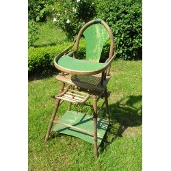 Chaise haute ancienne de bébé, XIXème