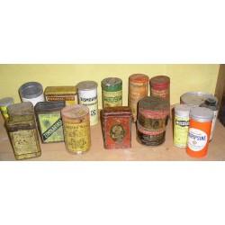 Lot de 18 boites  en fer anciennes, à pharmacie