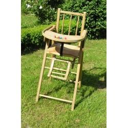 Chaise haute en bois, pour bébé