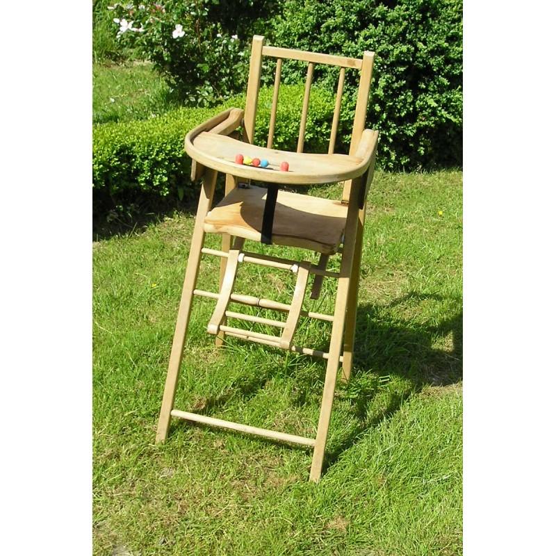 Chaise haute en bois pour b b broc23 - Chaises hautes pour bebe ...