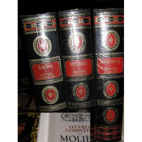 3 volumes de collection : Oeuvres complètes de Molière, Racine, Marivaux, Famot 1975