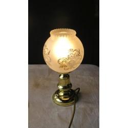 Lampe en laiton, globe boule