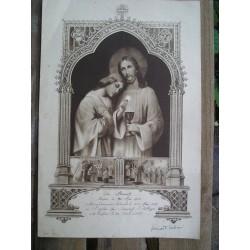 Grande image religieuse 1928