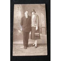 Photo ancienne- CPA, couple année 1928