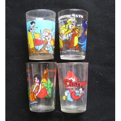 4 verres à moutarde Walt Disney Productions