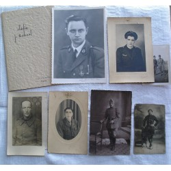 Lot de 7 photos militaires