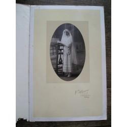 Photo ancienne , communiante , années 20-30