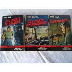 3 Livres policiers  Fleuve noir Spécial Police