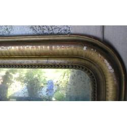 Miroir ancien en plâtre doré, à restaurer