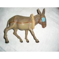 Petit âne en plastique, tete articulée, jouet vintage