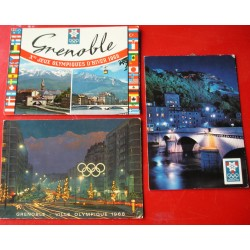 3 cartes postales Jeux Olympiques Grenoble 1968