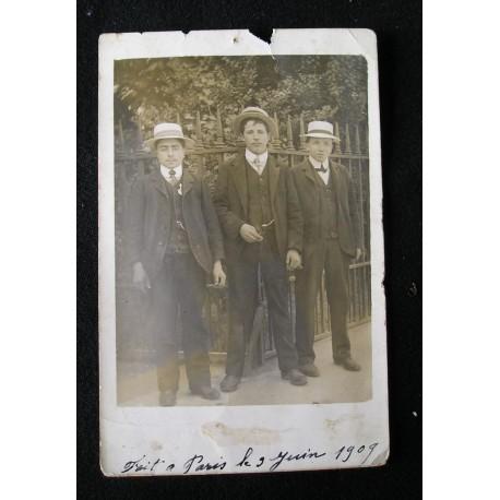 Photo-CPA ancienne, datée du 9 juin 1909