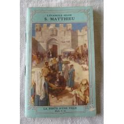 Petit livre religieux Evangile selon St Matthieu