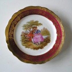 Assiette Limoges, personnages romantiques