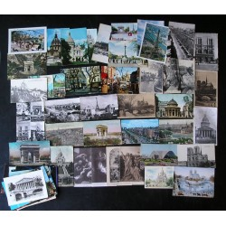 Lot de 71 cartes postales anciennes PARIS, 1910 - 1960