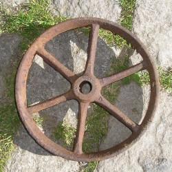 Roue ancienne en fer 22cm