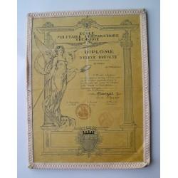 Diplome militaire, en  mécanique 1954