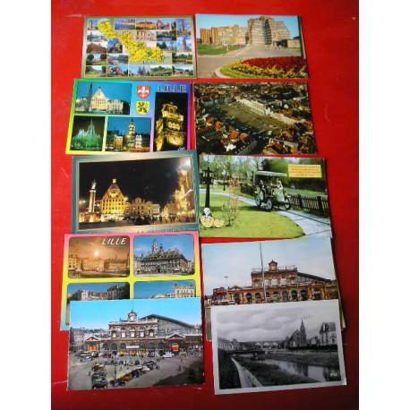 Lot de 11 cartes postales LILLE, années 60