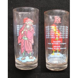 Verre de collection astrologie chinoise COQ