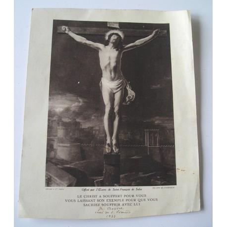 Grande image religieuse Christ 1933