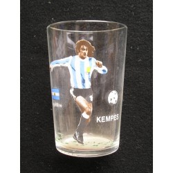 Verre de collection foot Kempes 1982