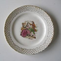 Assiette Moulin des Loups, couple XVIIIè